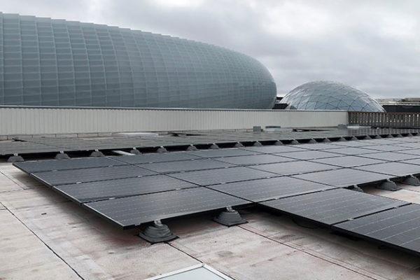 Centrale photovoltaïque toiture en autoconsommation Helexia Decathon Vélizy 1