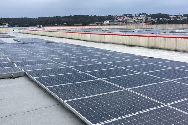 Centrale photovoltaïque sur centrale logistique
